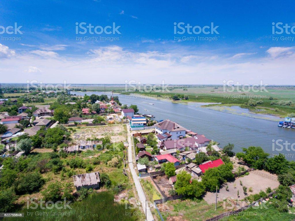 Mila 23 Danube Delta Romania. Traditional fisherman village in Danube Delta stock photo