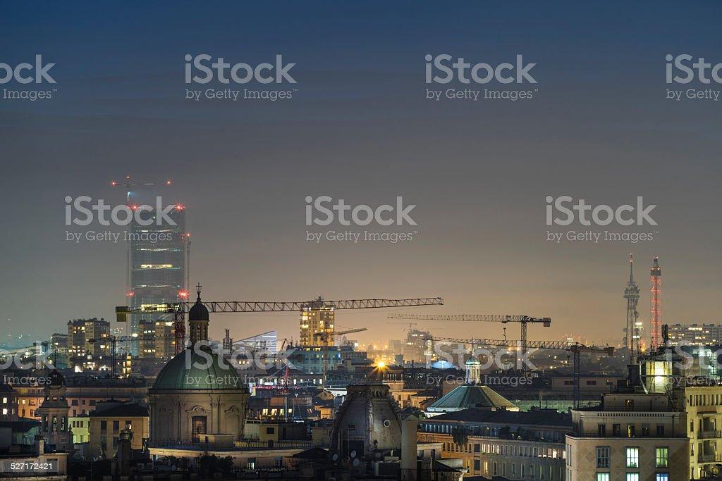 Milan, 2015 panoramic skyline