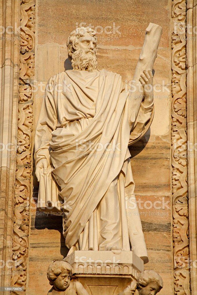 Milan - apostle Jude Thadeus statue stock photo