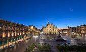istock Milan Cathedral and Piazza Del Duomo at Dawn, Milan, Italy 1208305627