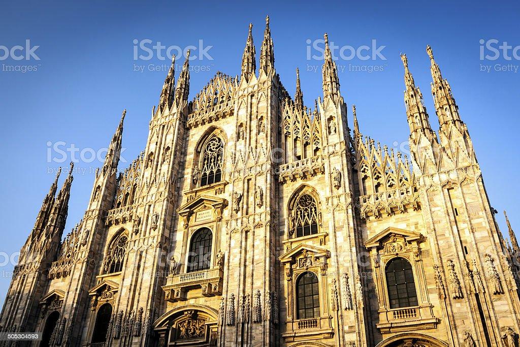 Milan Cathedral at Sunset stock photo