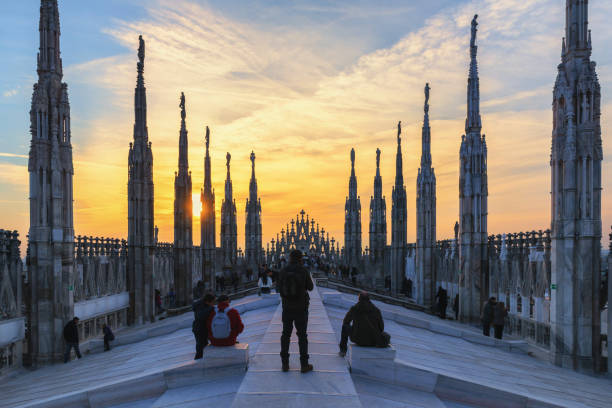 Mailand Kathedrale bei Sonnenuntergang – Foto