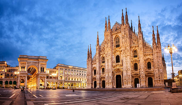 milan cathedral, italy - gothic style stock pictures, royalty-free photos & images