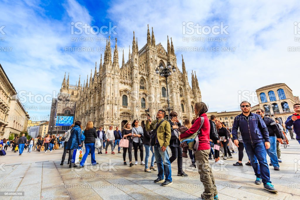 Milan Cathedral or Duomo di Milano royalty-free stock photo