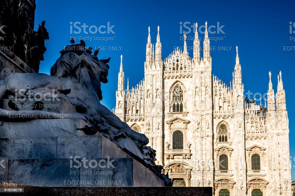 Milan Cathedral, Piazza del Duomo, Lombardia, Italy stock photo