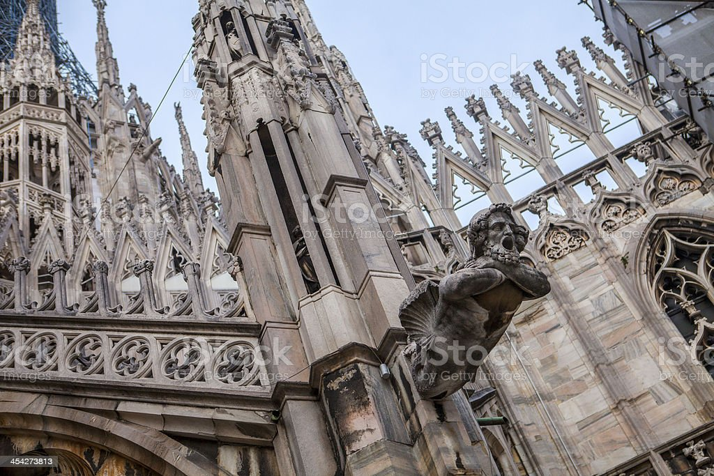 Milan Cathedral roof details, Duomo, Italy royalty-free stock photo
