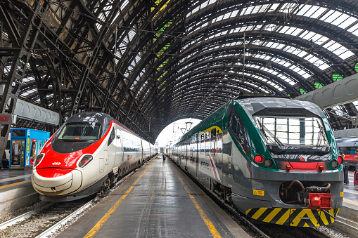 Milan Central Railway Station Italy Stock Photo - Download Image Now