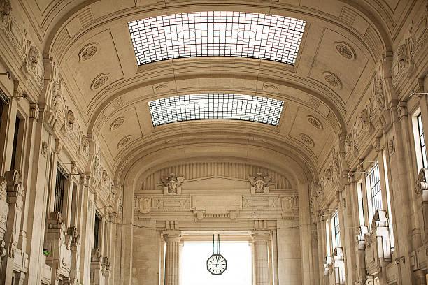 Milan Central Railway Station stock photo