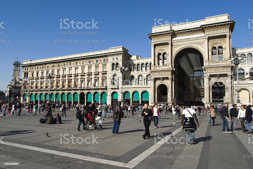 Milan central square royalty-free stock photo