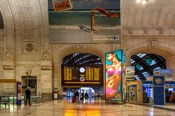 Milan Central Station, Italy. stock photo