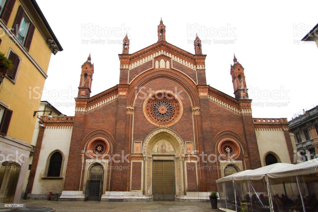 Milan: Church of Santa Maria del Carmine - foto stock
