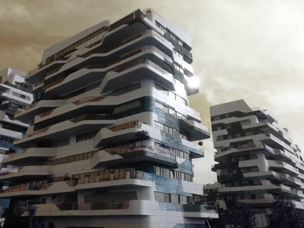 Milan Citylife new residential modern building structure - foto stock