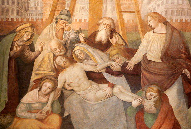 milan - deposition of christ - deposition stock pictures, royalty-free photos & images