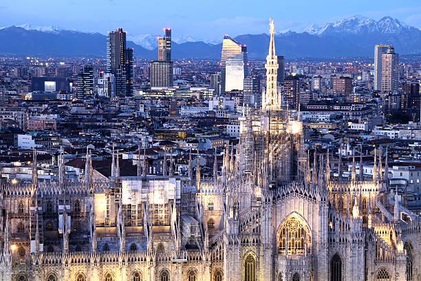 Milan Duomo Cathedral stock photo