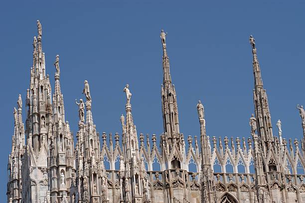Milan Duomo roof Architecture stock photo
