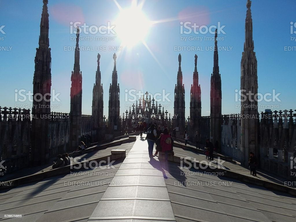 Milano Terrazza Del Duomo Stock Photo Download Image Now