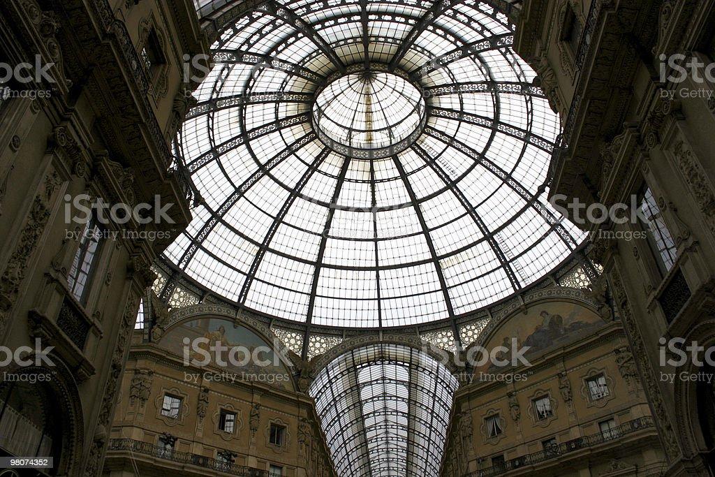 밀라노 갤러리아 비토리오 에마누엘레 2세 갈레리아 royalty-free 스톡 사진