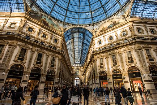 Milan, Italy 2016 - Newly refurbished Galleria Vittorio Emanuele II