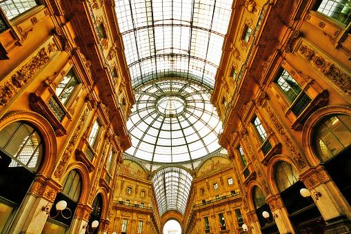 Milan, Italy - March 18, 2010 - Galleria Vittorio Emanuele II