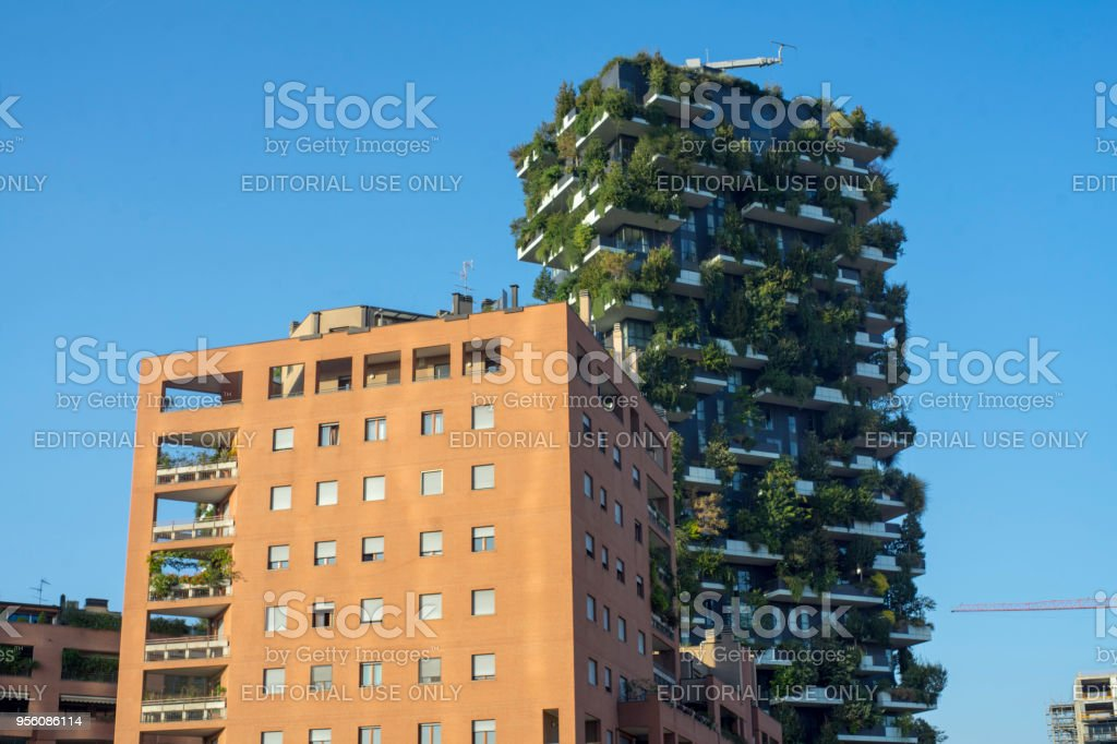 Milan, Italy: the new Gae Aulenti square - foto stock