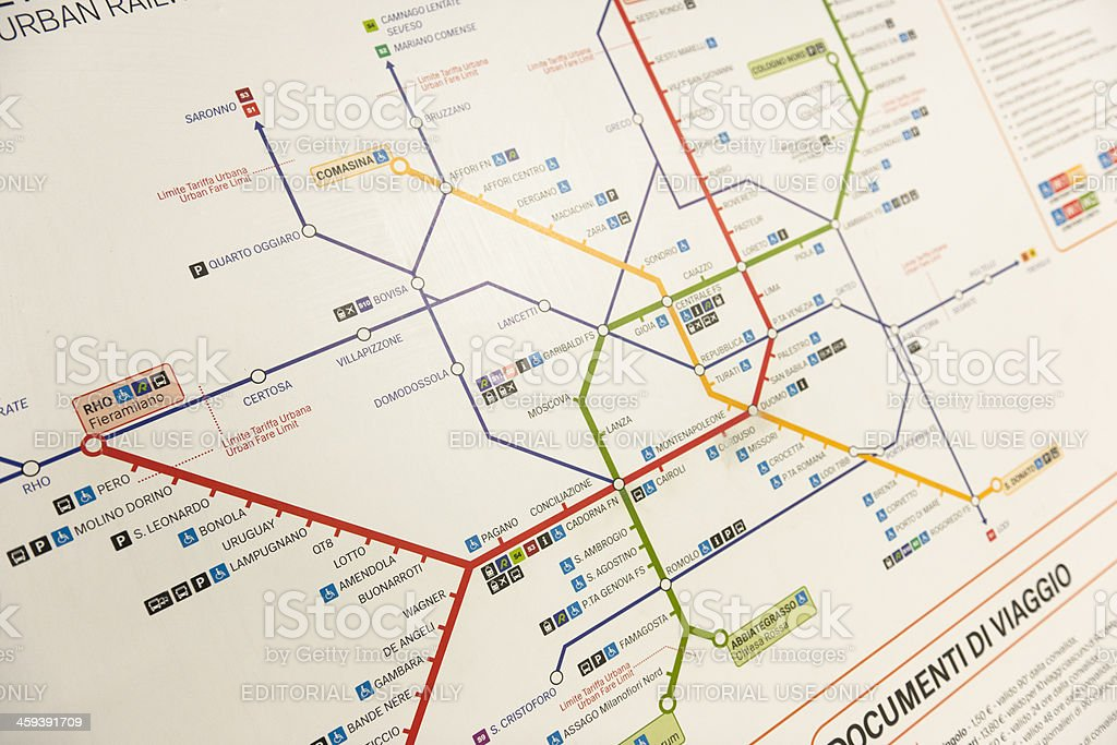 Milan Metro Maps On The Underground Stock Photo More Pictures Of