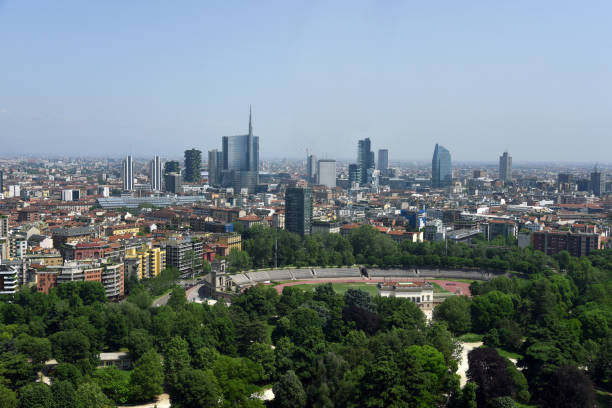 Milan - Milano Skyline stock photo