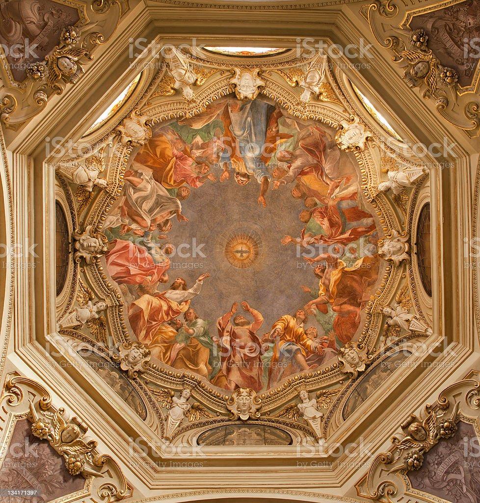 Milan - one cupola of Cappella Portinari royalty-free stock photo