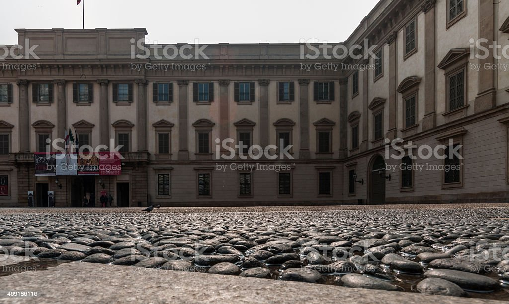 Milan (Italy). Piazzetta Reale (Royal Square) stock photo
