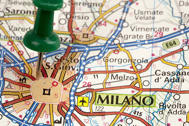 Top 60 Milan Italy Map Italy Thumbtack Stock Photos, Pictures, and ...