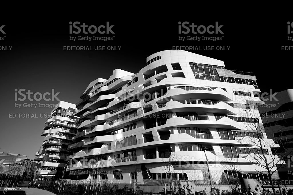 Milan residential area 'City Life' stock photo