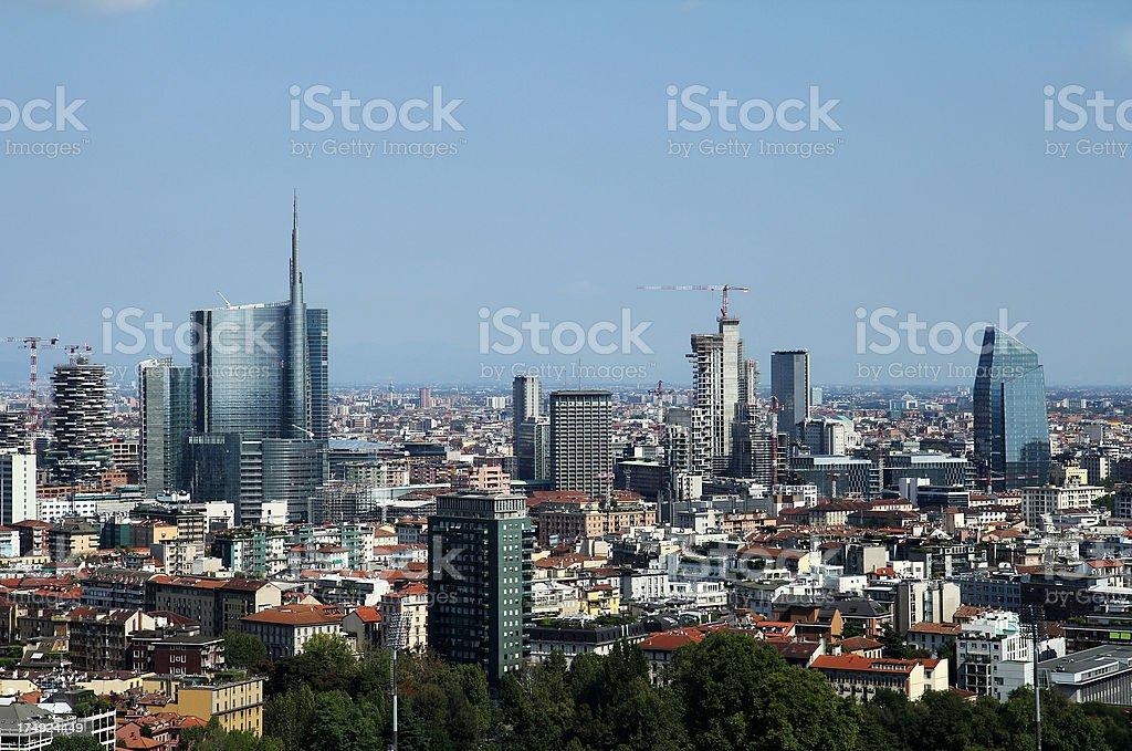 Sunny day in Milan, Italy.