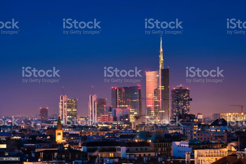 Milan skyline - foto stock