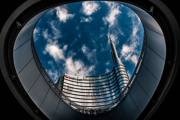Milan skyline with the UniCredit tower foto