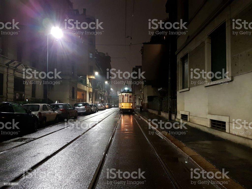 Tranvía de Milán - foto de stock