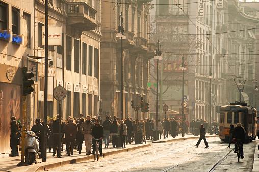 Milan Via Torino, Italy.