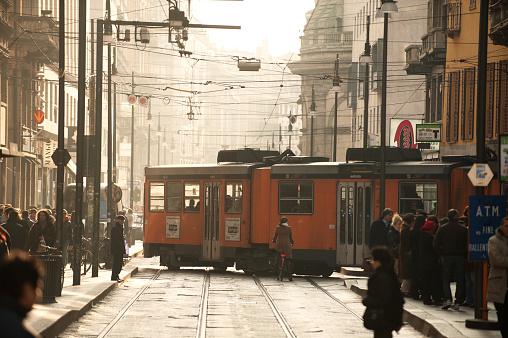 Milan Via Torino Tram. Italy.