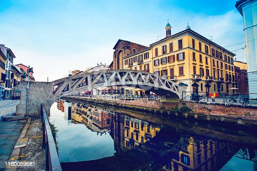 Milanese Canal And Bridge