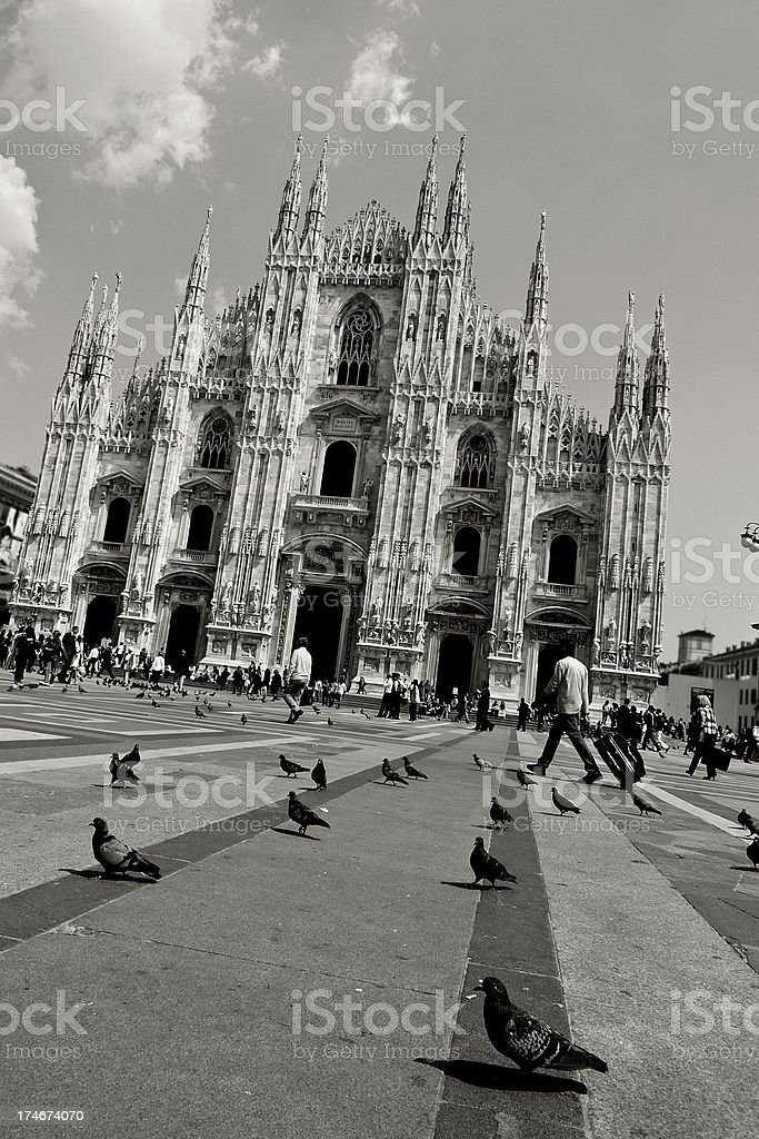 Milano in Black and White royalty-free stock photo