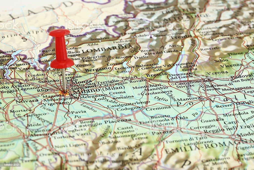 Milano Milan Italia Mapa De Europa Foto De Stock Y Mas Banco De Imagenes De Alfiler Istock