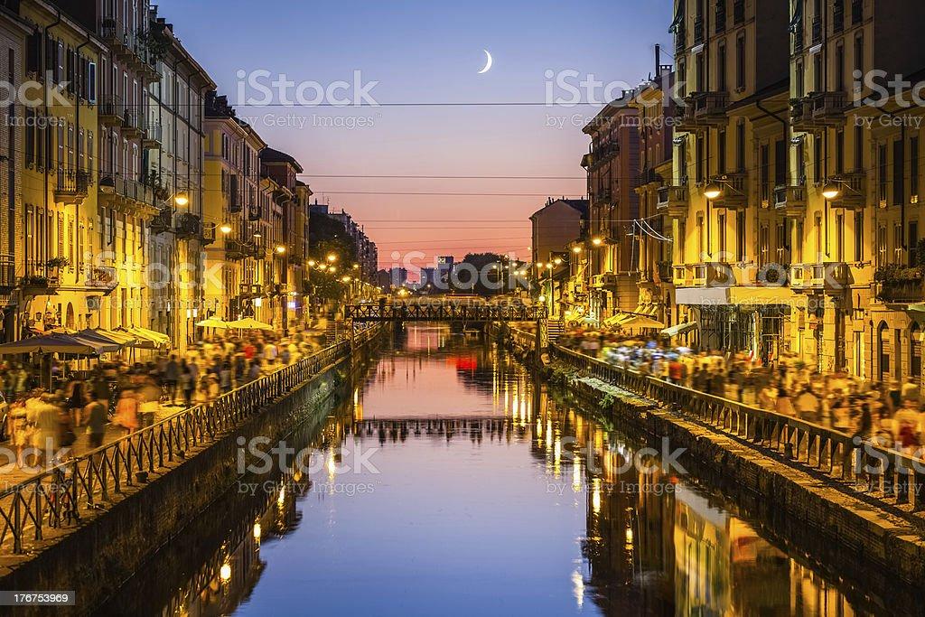 Milano, naviglio grande royalty-free stock photo