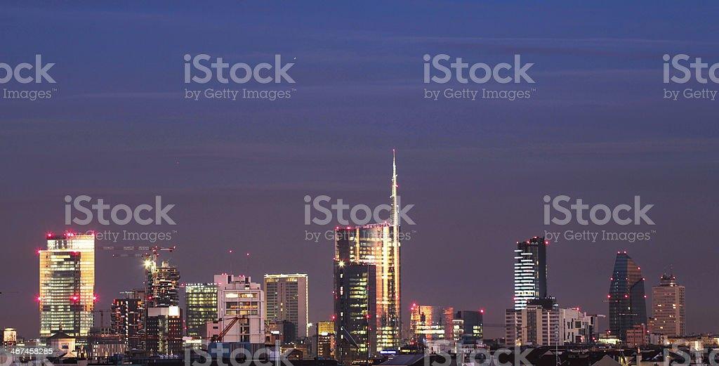 Milano Skyscrapers  Panorama 4 of four stock photo