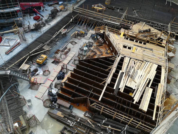 Milano under costruction building yard - foto stock