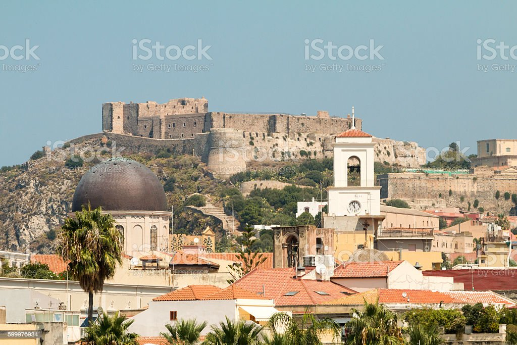 Milazzo In Messina Province Sicily Stock Photo - Download ...