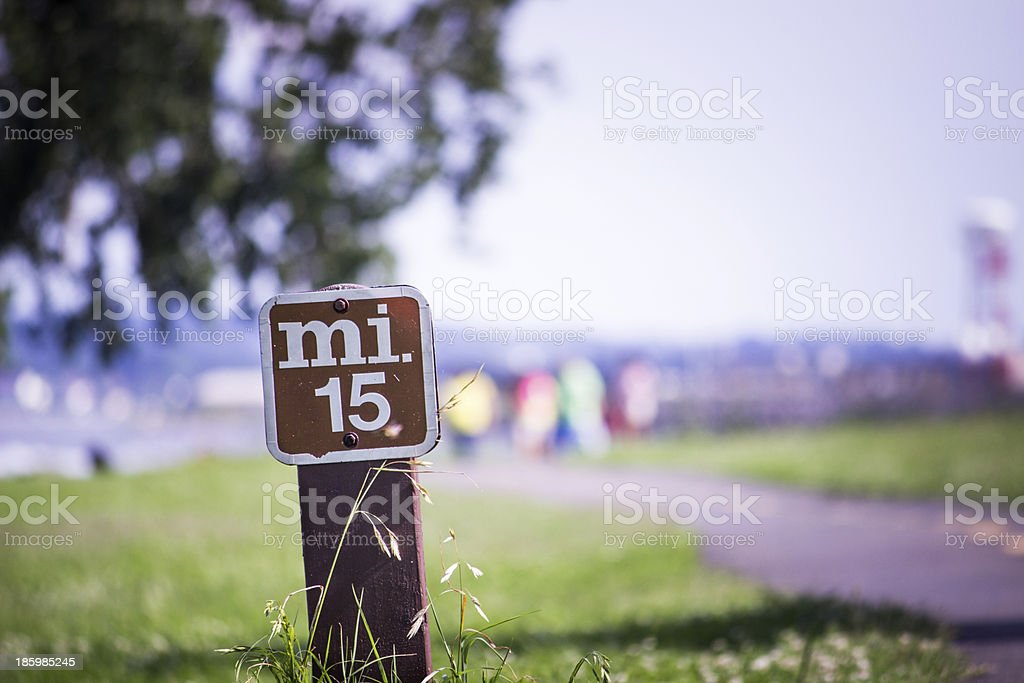 Mile 15 Marker stock photo