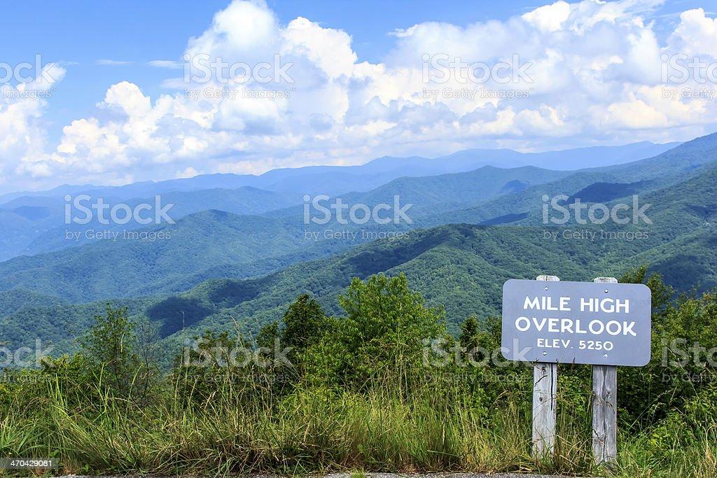 Mile High Overlook stock photo