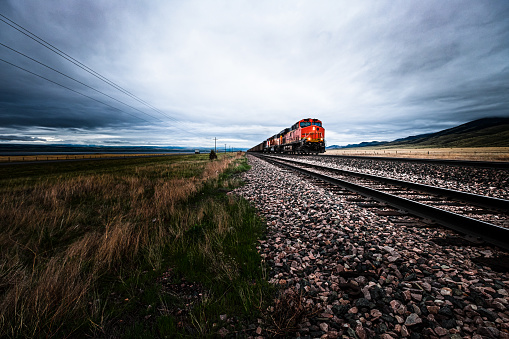 Freight train in Montana.