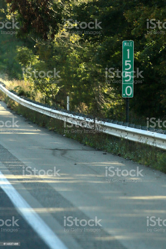 Mile Marker 155 stock photo