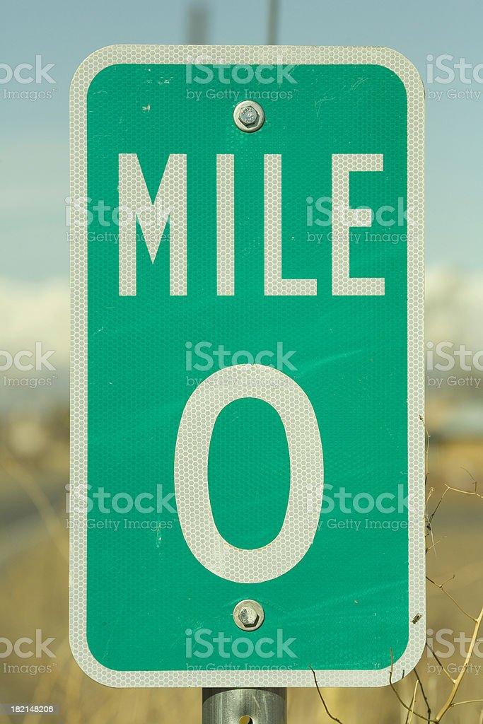 Mile Marker Zero. royalty-free stock photo