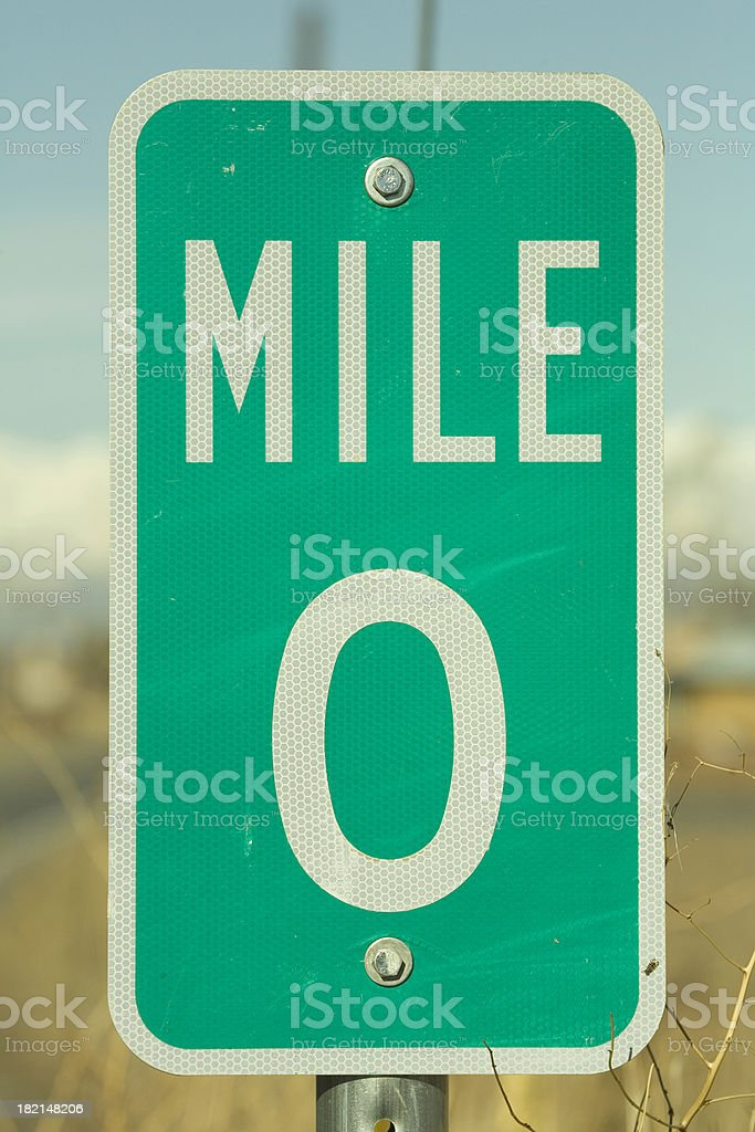 Mile Marker Zero. stock photo
