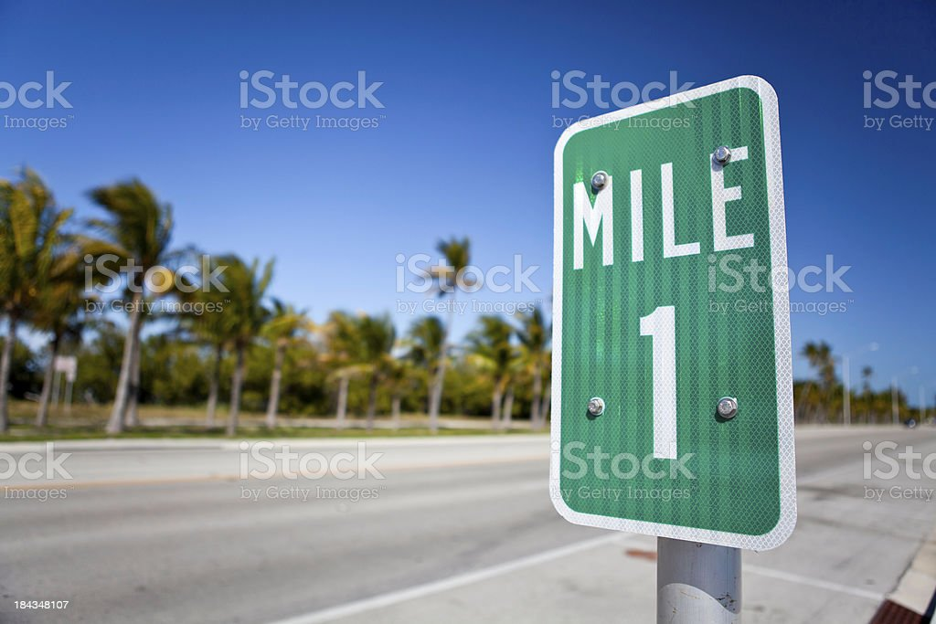 Mile one stock photo